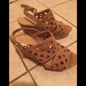 Franco Sarto Shea micro cork wedges sandals